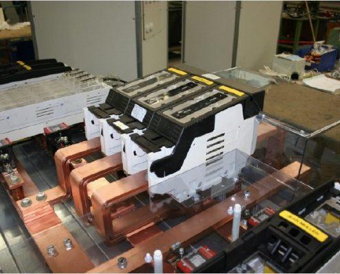 NH4a 630 kVA Trenner auf einem NS Gerüst (Niederspannungsgerüst auch Systemgerüst genannt