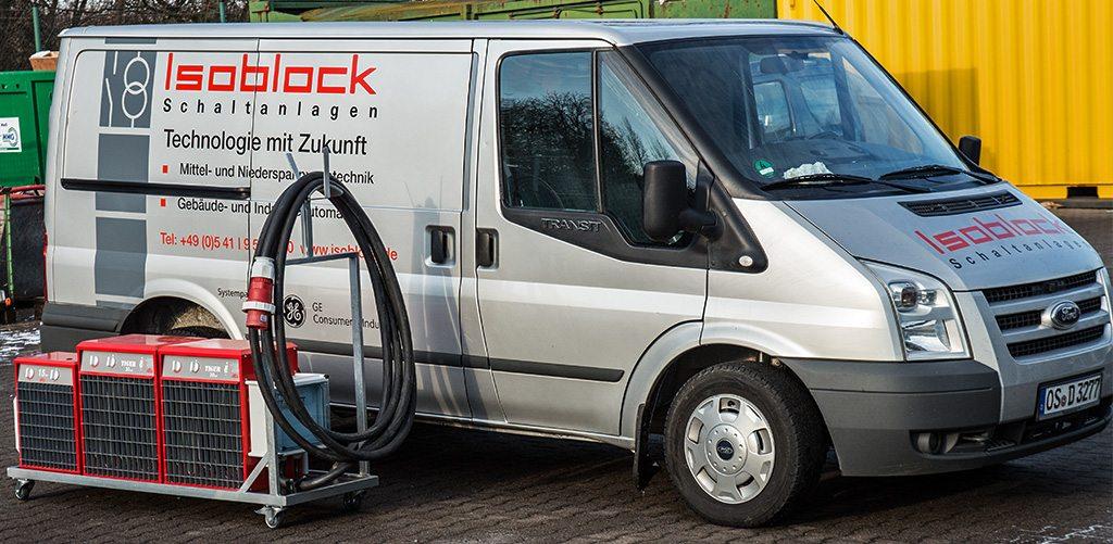 Heizwiderstände der Firma Isoblock mit 60kW