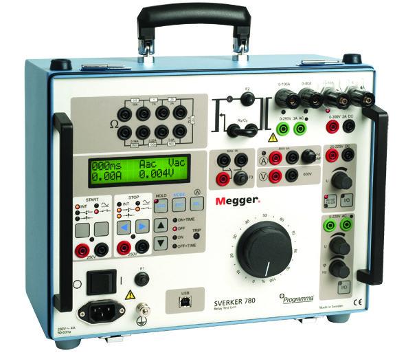 Der SVERKER-780_230V-Isoblock-Schaltanlagen ist für die Sekundärprüfung von Schutzrelaiseinrichtungen gedacht
