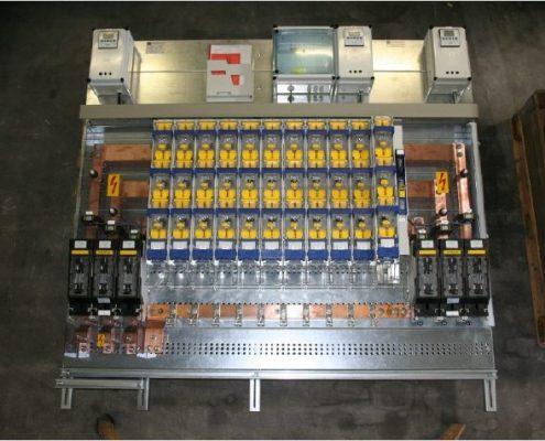NS Gerüst Niederspannungserüst mit NH 4a NH4a Trennern und mehreren Wandlermessungen hergestellt von der Firma Isobock Schaltanlagen