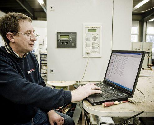 Einstellung eines QU-Schutz-Isoblock Schaltanlagen