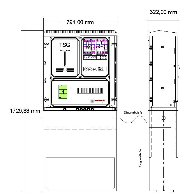 Schaltstelle Straßenbeleuchtung Typ: K364L Isoblock Schaltanlagen
