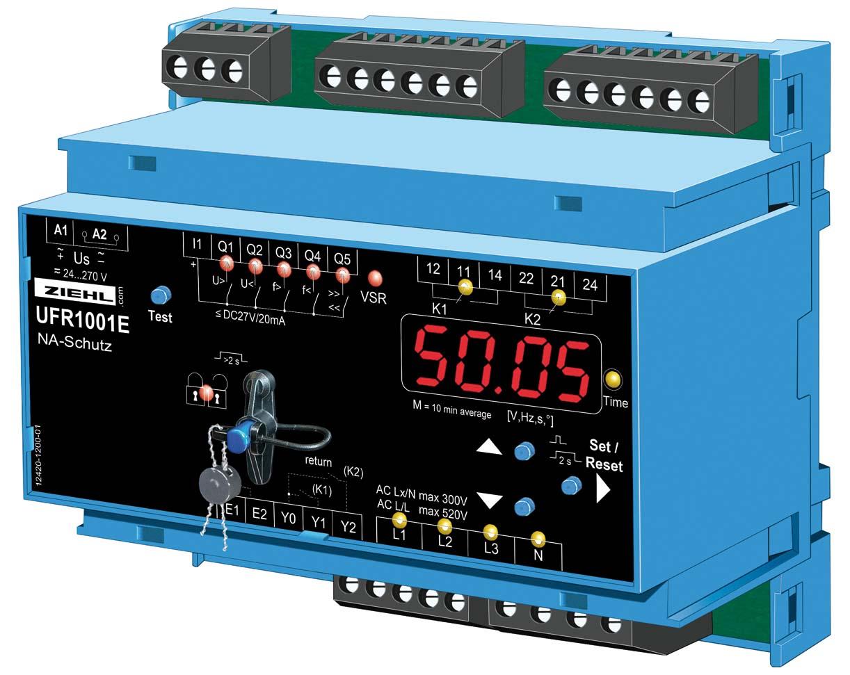 UFR1001E Isoblock Netzschutzrelais Parameter RWE eingeschrenkte dynamische Netzstützung