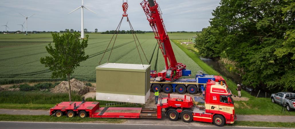 Stellung einer Übgabestation in Schleswig Holstein durch Isoblock