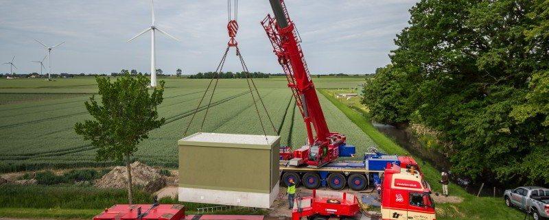 Übergabestation der Firma ISoblock in Schleswig Holstein als Schnittestelle zwischen VNB und Kunden