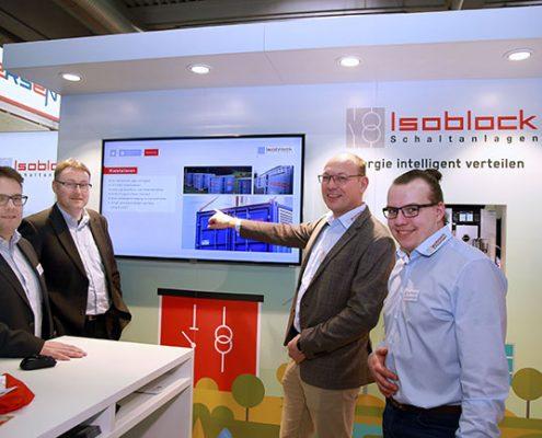 Die Messepräsentation der Firma Isoblock Schaltanlagen auf der Elektrotechnik in Dortmund vom 13. bis 15.Februar 2019