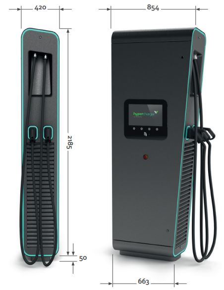 Isoblock 75kW / 150kW fast charging system for electric vehicles